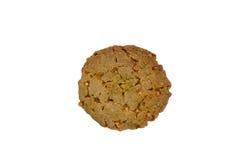 Biscuits de farine d'avoine sur le chemin de coupure blanc de fond Images stock