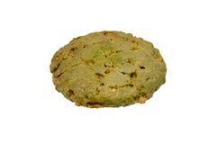 Biscuits de farine d'avoine sur le chemin de coupure blanc de fond Image stock