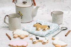 Biscuits de ferme photographie stock