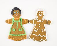 Biscuits de fille retenant des mains. Images stock