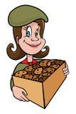 Biscuits de fille scout illustration de vecteur