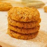 Biscuits de flocon de son photographie stock libre de droits