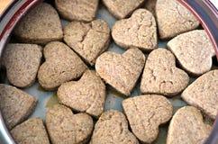 Biscuits de forme de coeur Photos stock