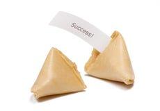Biscuits de fortune avec le message Images stock