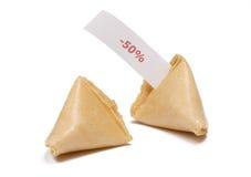 Biscuits de fortune avec le message Photo stock