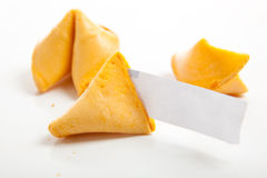 Biscuits de fortune chinois blanc Images stock