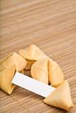 Biscuits de fortune votre texte Image stock