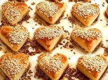 Biscuits de foyer avec le sésame image libre de droits