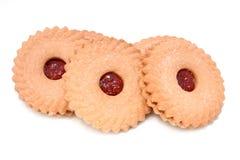 Biscuits de fraise Image libre de droits