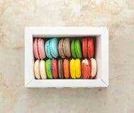 Biscuits de Français de Macarons Images libres de droits