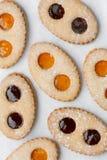 Biscuits de Français de romans de lunettes Photos stock