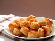 Biscuits de fromage Photos libres de droits