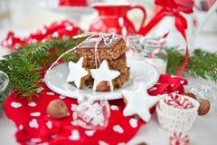Biscuits de gâteau et de Noël photo libre de droits