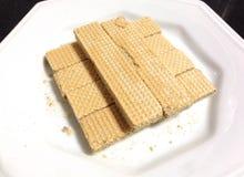 Biscuits de gaufrette Photo stock