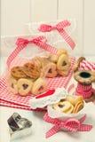 Biscuits de gelée de Noël Photographie stock libre de droits