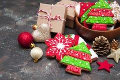 Biscuits de gingembre de Noël photo stock