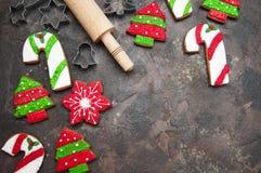 Biscuits de gingembre de Noël photographie stock libre de droits