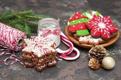 Biscuits de gingembre de Noël image stock