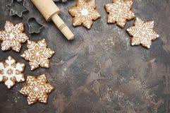 Biscuits de gingembre de Noël image libre de droits