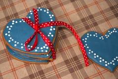 Biscuits de glaçage de coeur pour le jour du ` s de Valentine de saint Photo libre de droits