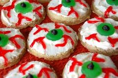 Biscuits de globe oculaire de Halloween Images libres de droits
