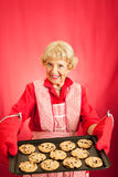 Biscuits de grand-mamans avec Copyspace Image stock