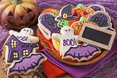 Biscuits de Halloween photo stock