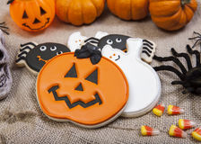 Biscuits de Halloween photographie stock libre de droits