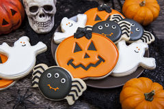 Biscuits de Halloween photo stock