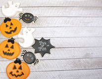 Biscuits de Halloween images libres de droits