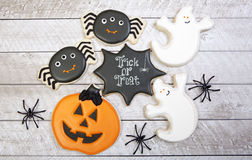 Biscuits de Halloween photo libre de droits
