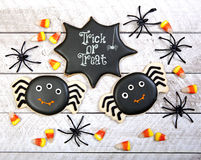 Biscuits de Halloween photos libres de droits