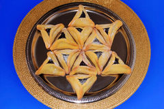 Biscuits de Hamantash pour le festival juif de Purim Image stock