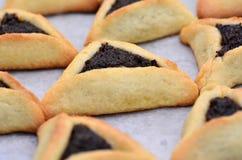 Biscuits de Hamentashen Ozen Haman Purim Photographie stock libre de droits