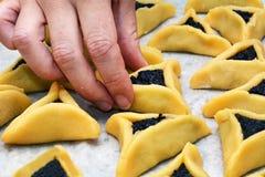 Biscuits de Hamentashen Ozen Haman Purim Photos libres de droits