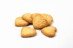 Biscuits de Hortbread sous forme de coeur Image libre de droits
