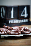 Biscuits de jour de Valentine´s Photographie stock