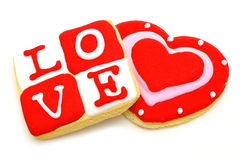 Biscuits de jour de Valentines Images stock