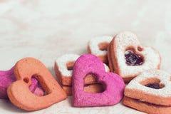 Biscuits de jour de valentines photo libre de droits