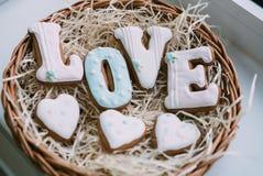 Biscuits de jour du ` s de Valentine Photo stock