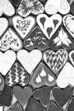 Biscuits de jour du ` s de Valentine Biscuits en forme de coeur pour le jour du ` s de valentine Biscuits en forme de coeur rouge Photographie stock libre de droits