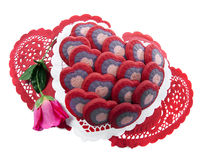 Biscuits de l'amour Image stock
