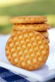 Biscuits de la plaque blanche photos stock