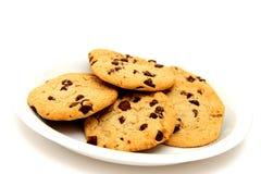 Biscuits de la plaque blanche Photo stock