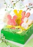 Biscuits de lapin de Pâques Images libres de droits
