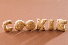 Biscuits de lettre Photographie stock libre de droits