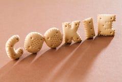 Biscuits de lettre Image libre de droits