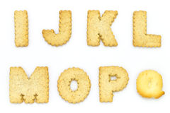 Biscuits de lettres Photos stock