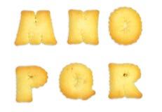 Biscuits de lettres Photo stock