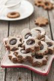 Biscuits de Linzer image stock